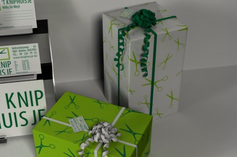 Gift wrap and label.